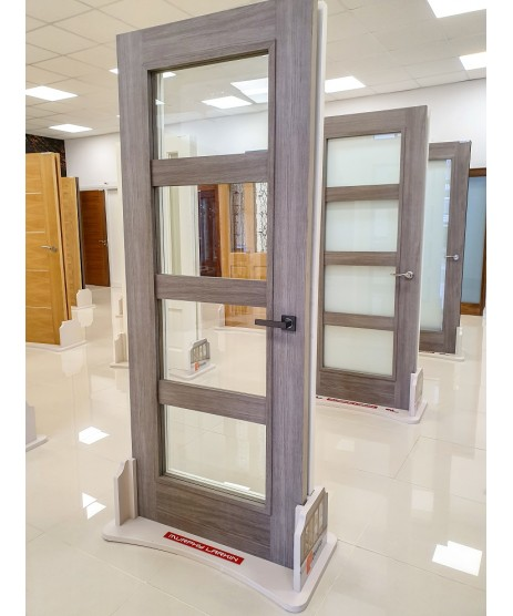 Doras Daiken Grey 4 Lite (Frosted) Door