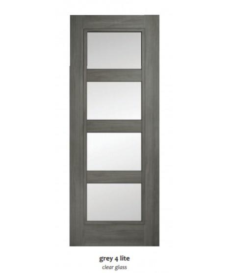 Doras Daiken Grey 4 Lite Clear Door