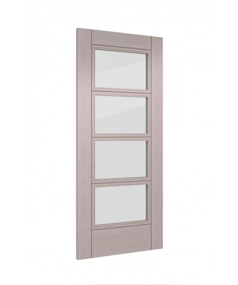 Deanta HP12G Light Grey Ash Clear Glass Door