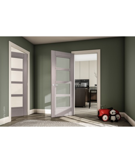 Deanta HP12G Light Grey Ash Frosted Door