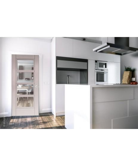Deanta HP12G Light Grey Ash Clear Glass Door
