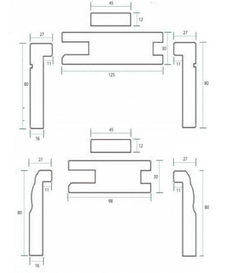 Oak Adjustable Door Frame (Engineered) & Architrave Set