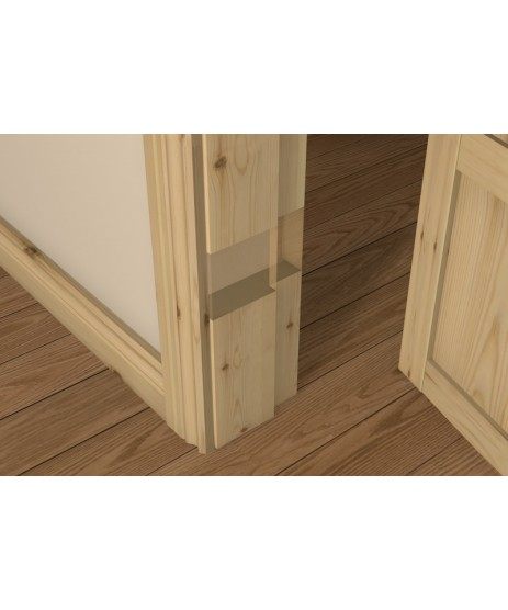Red Deal Pre-Varnished Rebated Door Frame