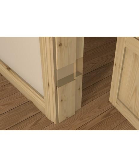 Red Deal Pre-Varnished Rebated Door Frame