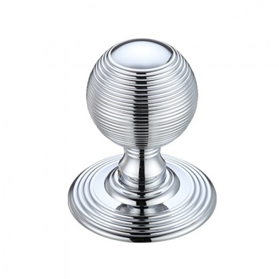 Zoo Hardware FB306CP Ringed Mortice Knob Polished Chrome