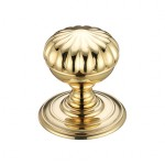 Zoo Hardware FB307PB Flower Mortice Knob Polished Brass