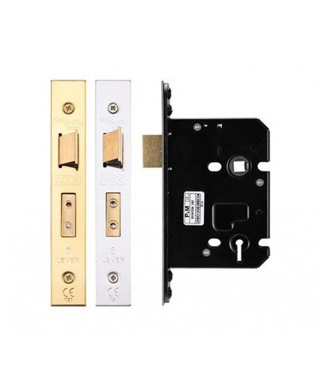 "Zoo Hardware 3 Lever Mortise Lock 2.5"" Lock"