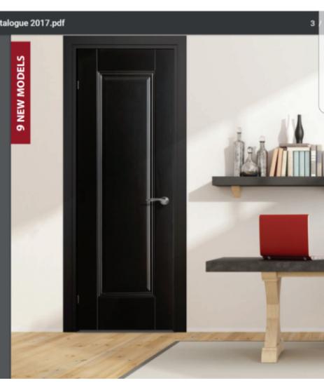 Doras Arnhem 1P European Black Finish Door
