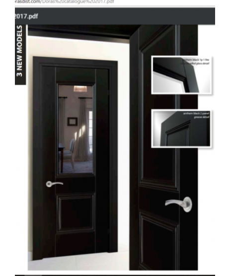 Doras Arnhem 1P 1 lite European Black Finish Door