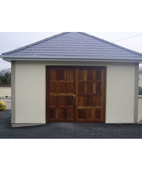 Garage Doors 12 Panel (Double Garage Doors & Frame)