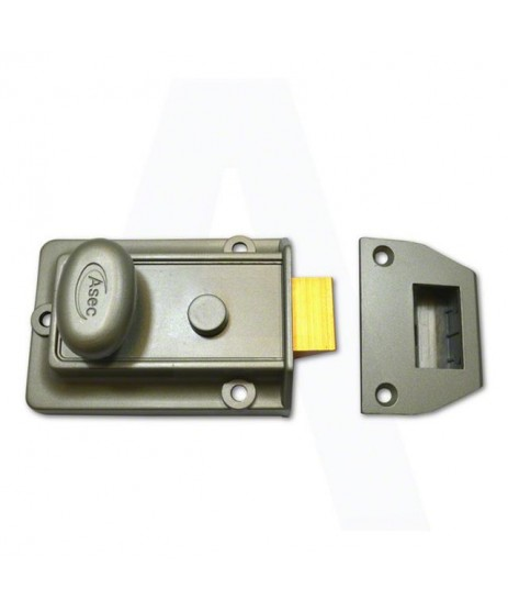 ASEC Traditional Non-Deadlocking Nightlatch, AS1209 60mm GRN with PB Cylinder Boxed