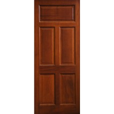 External Door Mahogany Timber 5 Panel Door (002)