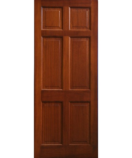 External Door Mahogany Timber Solid Door 6 Panel(003)