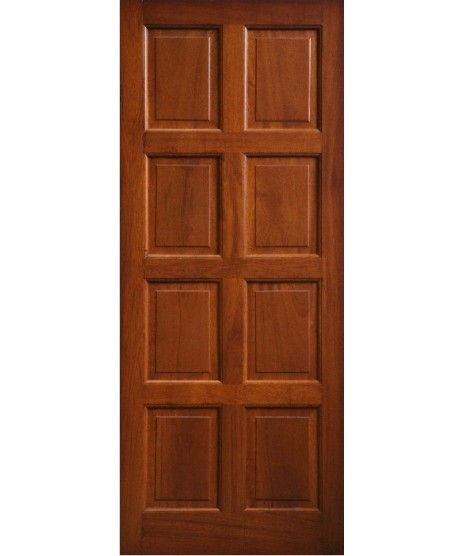 External Door Mahogany Timber Solid 8 Panel (004)