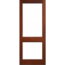 External Door Mahogany Timber 2 panel  Glazed (006) The Mizen