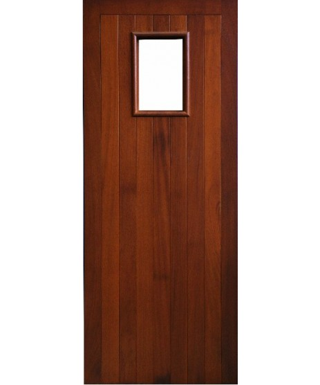External Door Mahogany Timber Solid Door Glazed (007) (Erne)