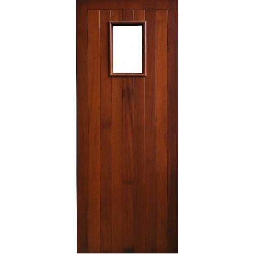 External Door Mahogany Timber Solid Door Glazed 007 Erne