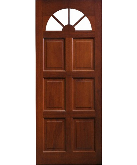 External Door Mahogany Timber Solid Door Fanlight Glass (0012) The Carolina