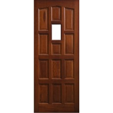 External Door Mahogany Timber  Solid  Door Glazed(0013) Elizbethan