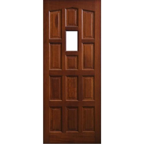 External Door Mahogany Timber Solid Door Glazed 0013 Elizbethan