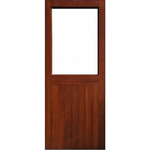 External Door Mahogany Timber Solid Sheeted Glazed Door