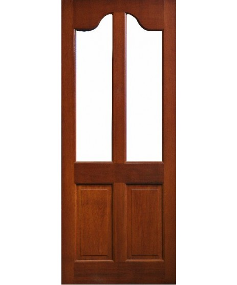 External Door Mahogany Timber Door frosted glass (0016) The Kensington