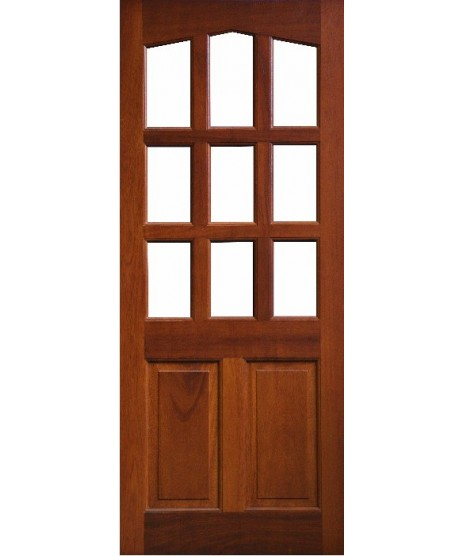 External Door Mahogany Timber Solid Glazed (0020) The Corrib