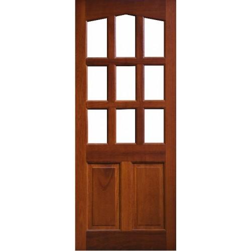 External Door Mahogany Timber Solid Glazed 0020 The Corrib