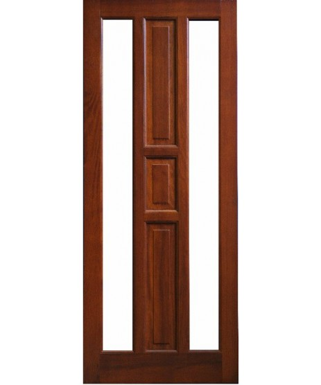 External Door  Mahogany Timber Glazed Door(0021) (Hollywood)