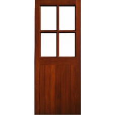 External Door Mahogany Timber  Solid Clear glass(0022) Half Sheeted