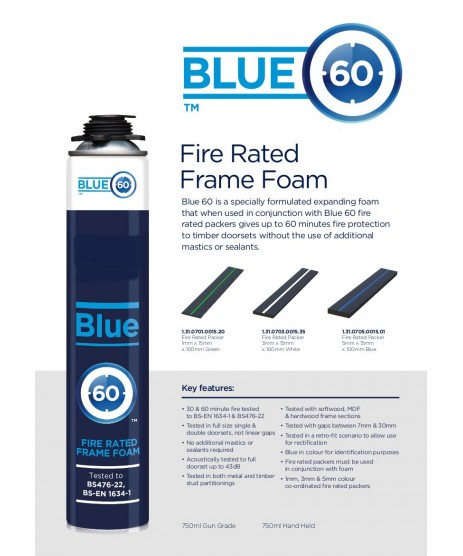 Blue Foam 60 Fire Rated Door Frame Foam