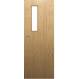 Fire Door Oak Universal DFG56 Prefinished FD30