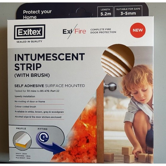 Intumescent Self Adhesive Strip (with brush)