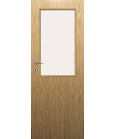 Fire Door Oak Universal DFG34 Glazed Prefinished FD60