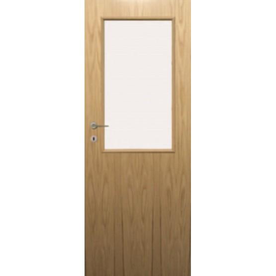 Fire Door Oak Universal DFG34 Glazed Prefinished FD60