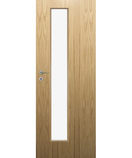 Fire Door Oak Universal DFG01 Glazed Prefinished FD30