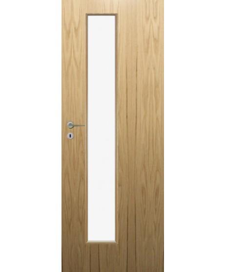 Fire Door Oak Universal DFG01 Glazed Prefinished FD30