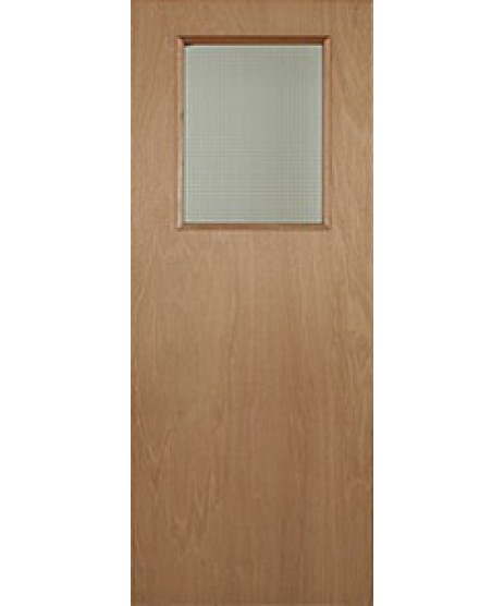 Paint Grade Vision Panel Fire Door FD30 (SQUARE)
