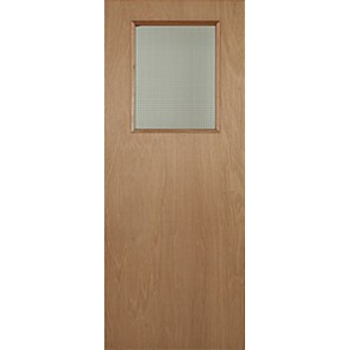 Paint grade vision panel fire door square for Door vision panel