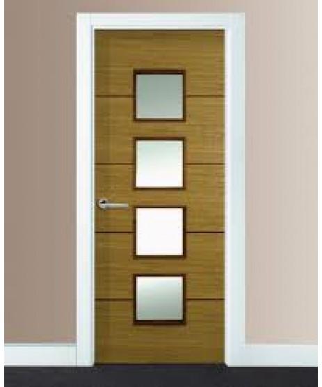 Doras Sono Oak Fire Door (Glazed)