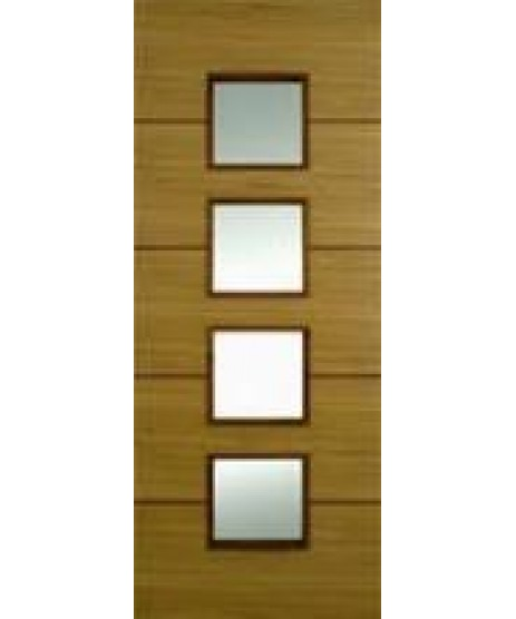 Doras Sono Oak Fire Door (Glazed)
