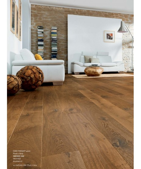 HARO Parquet 4000 Plank 1-Strip Smoked Oak Sauvage brushed