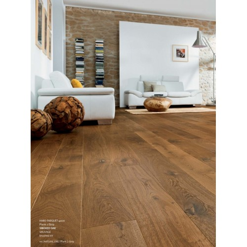 Haro Parquet 4000 Plank 1 Strip Smoked Oak Sauvage Brushed