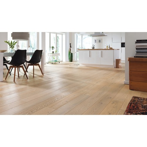 Haro Parquet 4000 Plank 1 Strip Oak Solar Salt Limewashed Sauvage