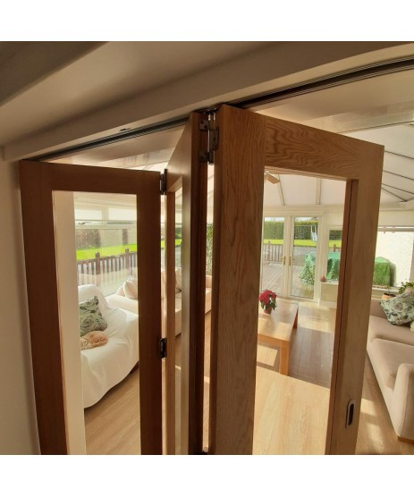 Roomflex Bi-Fold Door Kit RFK1 With 2M Track