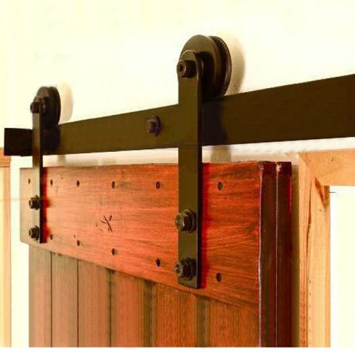 ... Rustic 80 Barn Door Sliding Rail Set 3M ... & Henderson Rustic 80 Barn Door Sliding Rail Set 3M pezcame.com