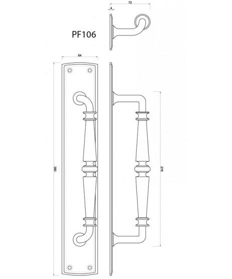Carlisle Brass Ornate Pull Handle PF106