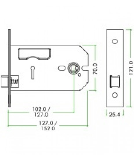 """Zoo 5"""" Horizontal Lock&Latch Ideal for Door Knobs"""