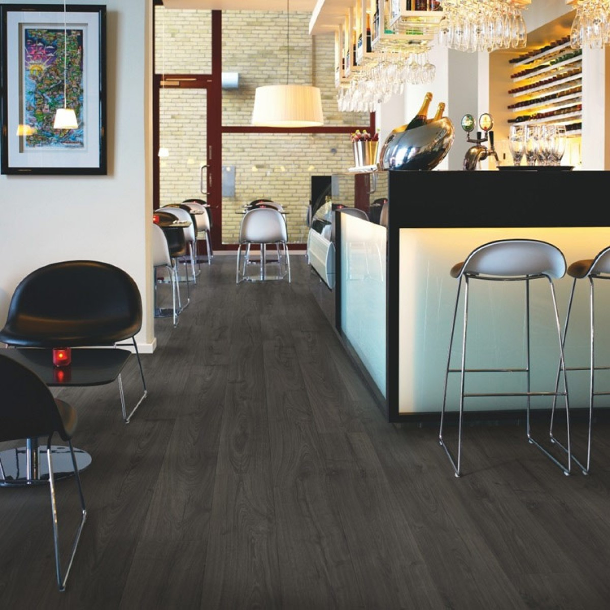 Pergo Sensation Black Pepper Oak Plank, Pergo Black Laminate Flooring