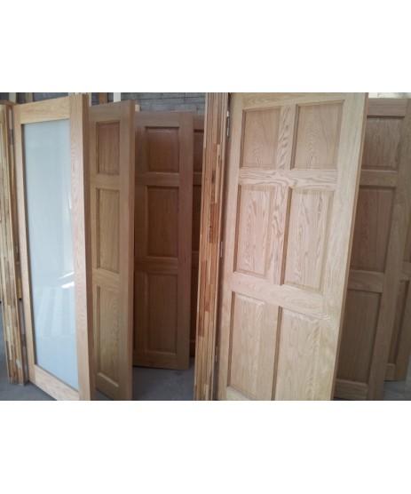 Pre Hung 6 Panel Oak Door Set